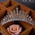 41*113mm Bridal Tiara Prom Rhinestone Crystal Hair Pin Comb Heart Crown Headband Women Wedding Party Jewelry Accessories