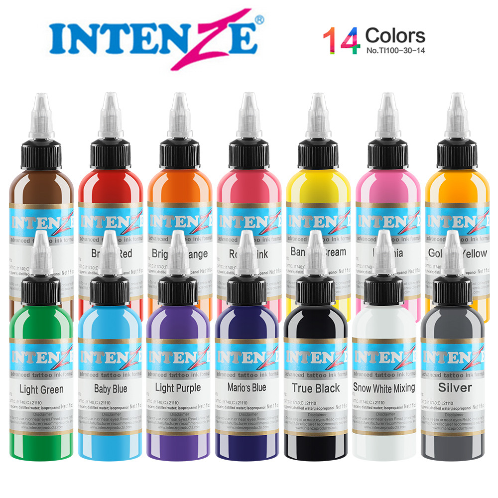 14 Embroidery Machine Permanent Color Tattoo Pigment Tattoo Ink 30ml Beauty Tools14 Embroidery Machine Permanent Color Tattoo Pigment Tattoo Ink 30ml Beauty Tools