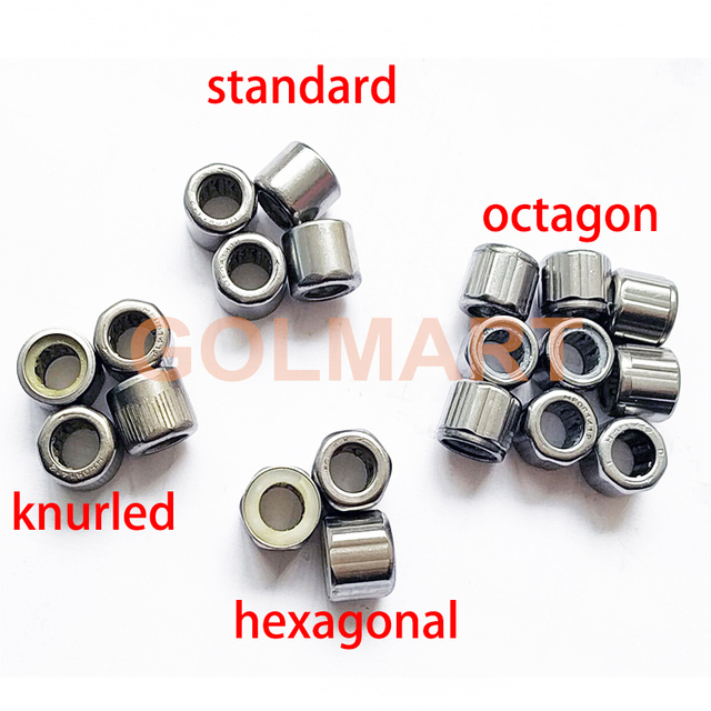 1pc Outer knurled Outer hexagonal octagon bearing HF081412 EWC081412 Outer ring One-way needle roller bearing 8*14*12mm 8X14X12