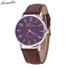 Women's Fashion Watches PU Leather Band Quartz Ladies Wrist Watch wholesale