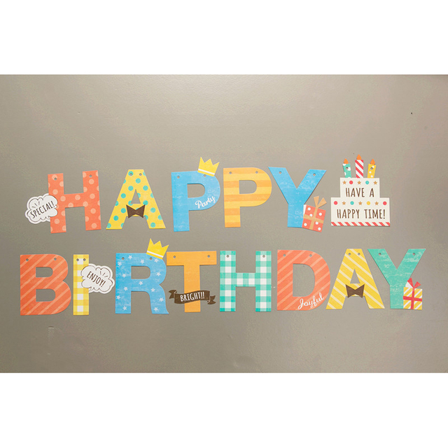 US $2 11 22% OFF|Happy Birthday Letter Cake Design Flags Party Banner Party  Decorations Birthday Baby Shower Family Friend Party Supplies-in Banners,