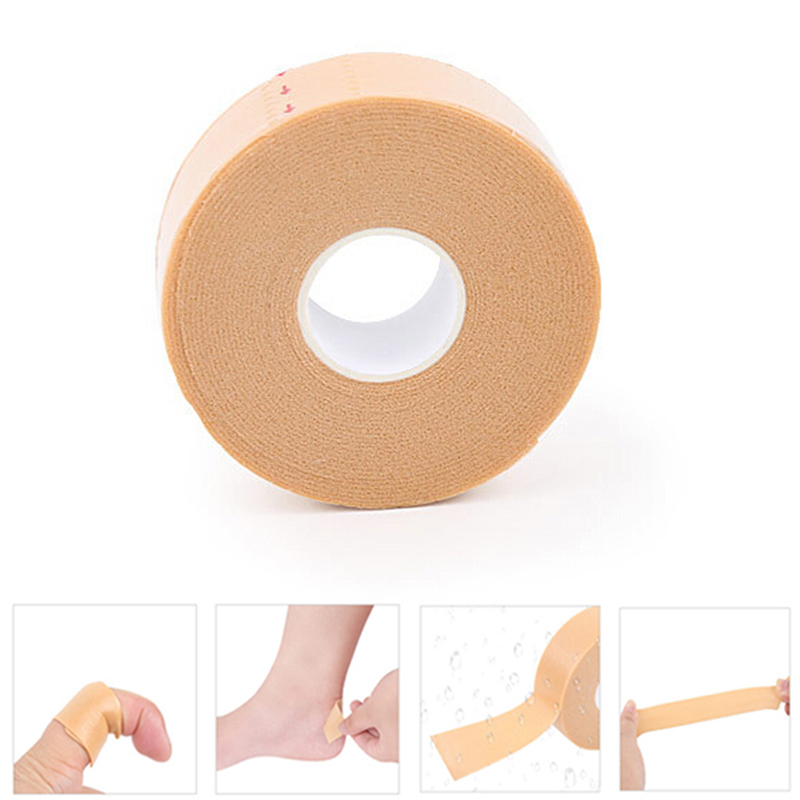 1Roll Anti-Wear Foam Heel Sticker Tape Cotton Patch Foot Care Blister Plaster Waterproof First Aid Blister Pedicure Pad Insole