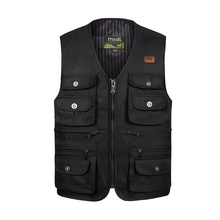 Male Summer Thin Multi Pocket Vest Photographer Outerwear Tool 3 Colors Sleeveless Jacket Waistcoat For Men With Many Pockets black side pockets sleeveless outerwear