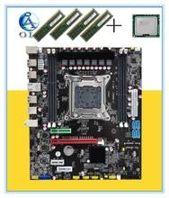 New motherboard X79  with E5 2660+16G(4G*4)ram 64G LGA 2011  DDR3 ATX mainboard  desktop motherboard