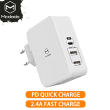 EU/US Adapter USB Type c PD 41W Fast USB Wall Charger Mobile Phone Fast Charging USB for MacBook iPhone X Samsung Xiaomi Huawei