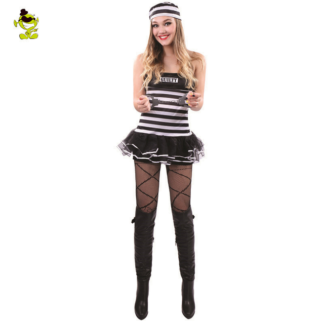 guily conscience womens sexy prisoners costume women prisoners cosplay halloween costume for woman exotic apparel game
