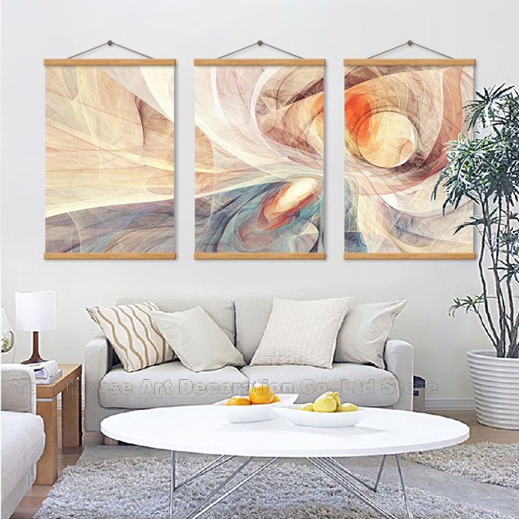 Nordic Poster Waterproof Warm Color Abstract Wall Art Canvas