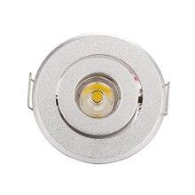 10 adet/grup 1W 3W mini Led spot ışık Downlight dolap ışıkları delik boyutu 40 45mm 110 270LM LED sürücü ile ücretsiz Express