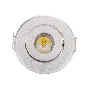 Image 1 - 10 adet/grup 1W 3W mini Led spot ışık Downlight dolap ışıkları delik boyutu 40 45mm 110 270LM LED sürücü ile ücretsiz Express
