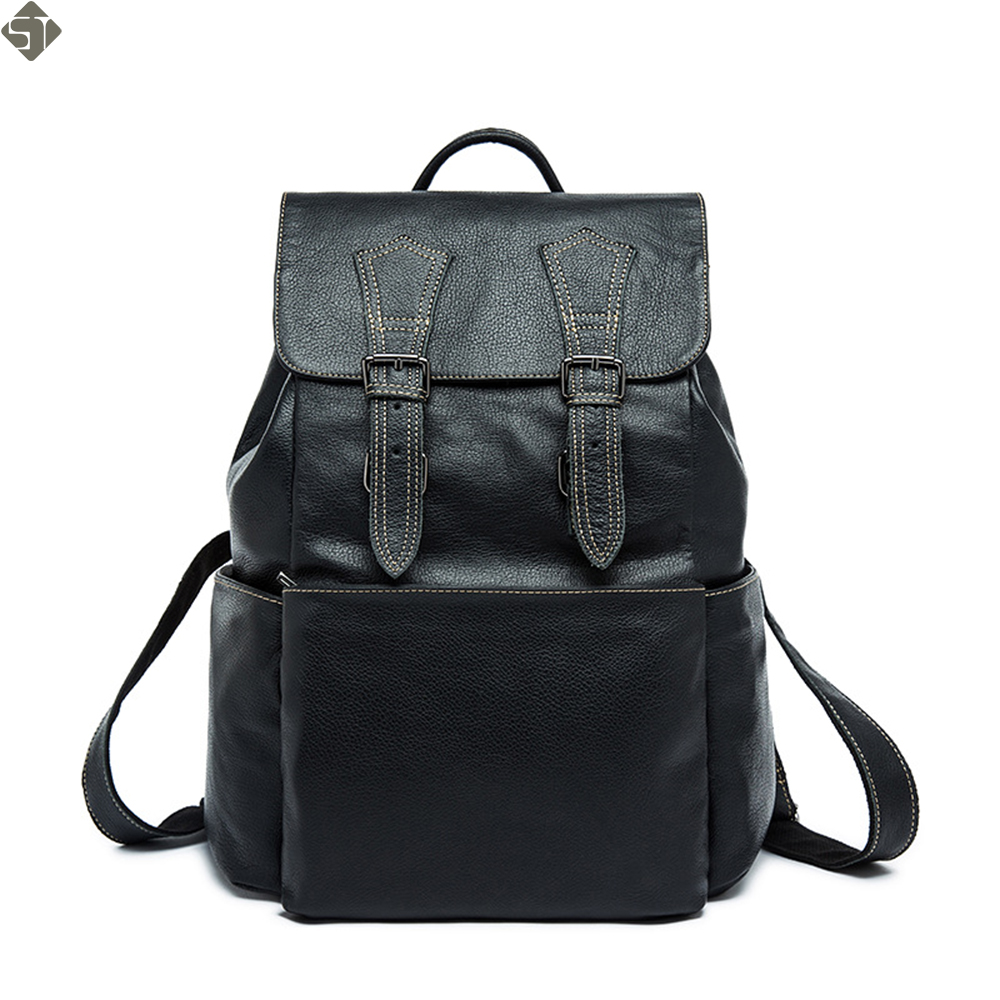 Fashion Men's Backpack male Genuine Leather Men's Travel Bag mochilas laptop backpack male casual backpack for men back pack цена