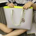 New Fashion Mulheres Composite Bag Bolsas de Grife Bolsas De Couro Mulher Bolsas de Marcas Famosas Mulheres Bolsa de Ombro Conjunto