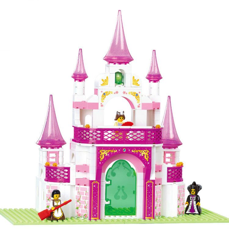 Sluban Pink Dream Series Sunshine Villa top Building Block Sets Model Toy Minifigure Compatible With Lego Gifts for Girls 72