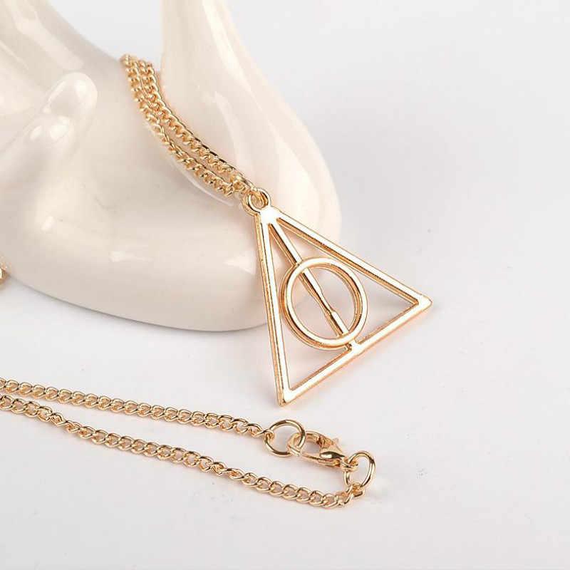 Złoty srebrny brązowy kolor prosty trójkątny naszyjnik dla akcesoria dla mężczyzn urok wisiorek komunikat Bijoux Femme prezent