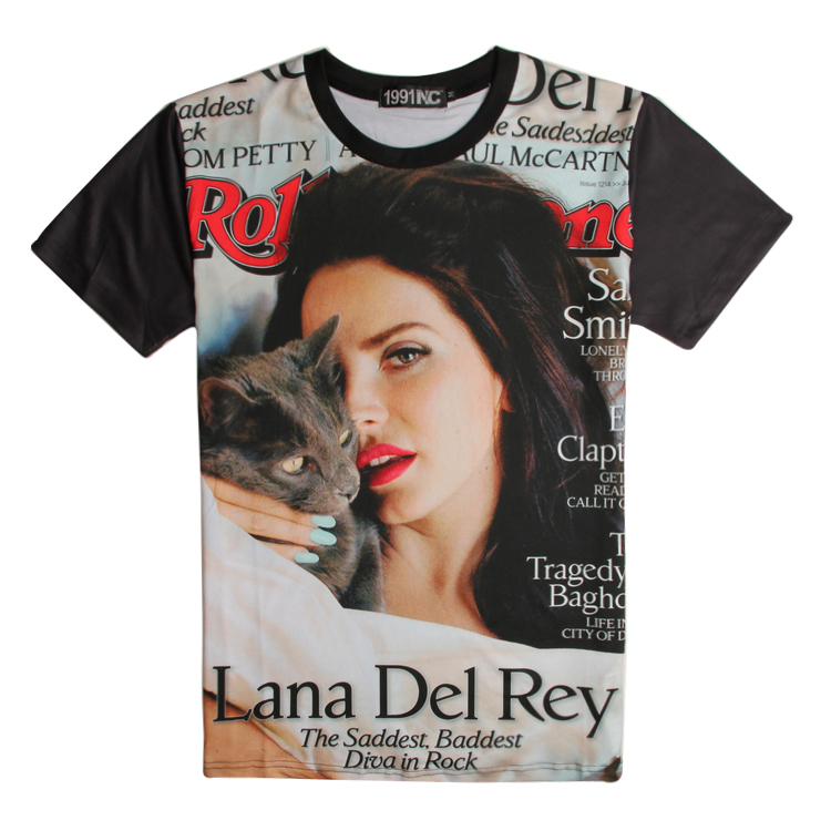 44279c9be Graphic Tees Men T Shirt Hip Hop Marilyn Monroe Tshirt Lana Del Rey Shirts  Mayan Girl 3D T shirt Mens Clothing Baseball Sports-in T-Shirts from Men's  ...