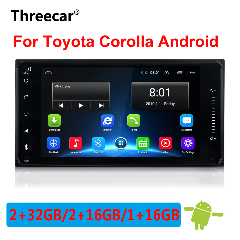 Newest Android 8 1 car dvd for toyota corolla 2 Din Universal car radio with navigation