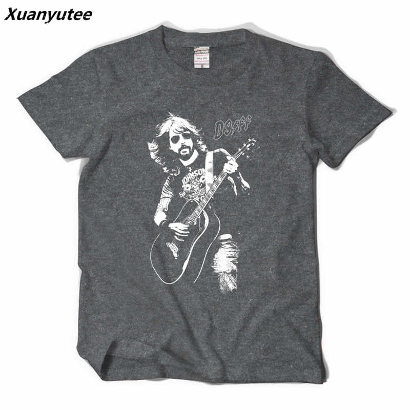 deaffc94d022 Xuanyutee Foo Fighters T shirt Homme Cotton O-neck Short Sleeve Print Dave  Grohl Fans