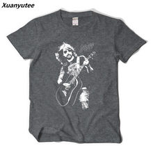 Xuanyutee Foo Fighters T shirt Homme Cotton O-neck Short Sleeve Print Dave Grohl Fans Fashion 2XL T-shirt Men Black Hip Hop Tees(China)