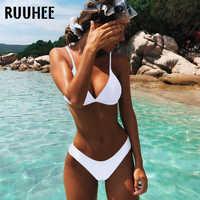 Ruuhee biquíni brasileiro maiô feminino 2019 micro conjunto de biquíni push up maiô beach wear maillot de bain femme