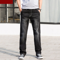 Men jeans pants trousers stretch large size big 6XL 7XL 8XL 9XL 10XL 44 46 48 summer autumn classic casual jeans home