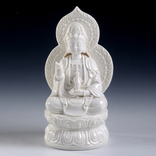 Dai Yutang ceramic bodhisattva Amitabha trend to the West, Trinity/7-inch screen D21-07D