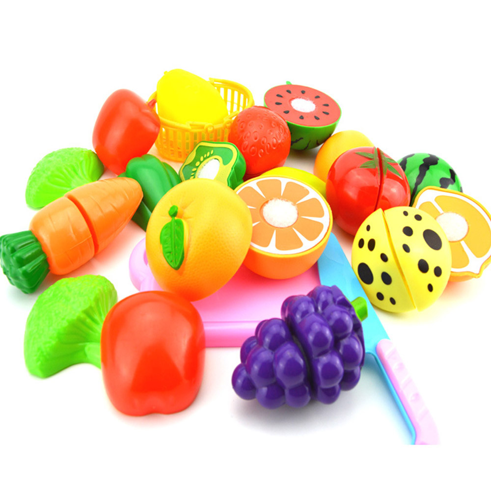 15PCS Children Toys Fruits and Vegetables Model Toys Early Education Every Family Game Toys for Children Gifts Toy Model oyuncak