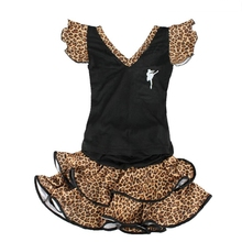 Child female Latin dance clothes top set dress leotard free shipping wholesale and retail