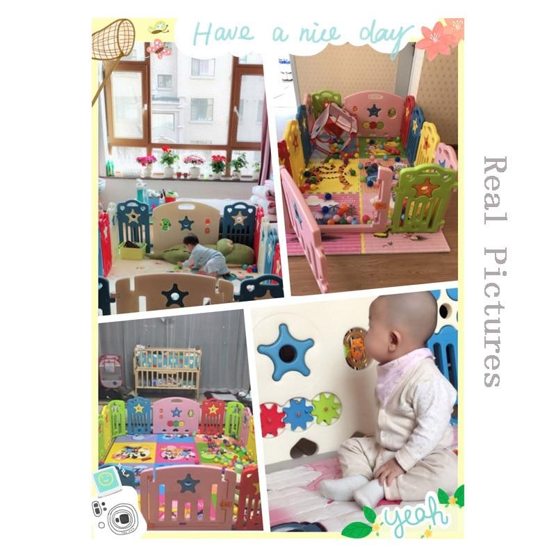 Indoor Baby Kojec Outdoor Kids Graj w gry Fence Toddler Crawl - Aktywność i sprzęt dla dzieci - Zdjęcie 6