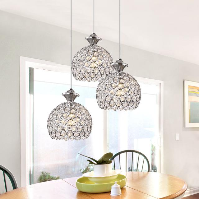 LED Pingente de Cristal Lâmpada Restaurante Criativo Cordão Pingente Luminárias de Estilo Contemporâneo