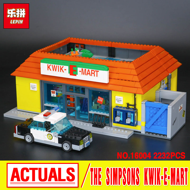 Lepin 16004 Simpson KWIK-E-MART Model set Building Blocks Bricks Model Assembling Toys Compatible With 71016 Educational Toys free shipping hand control reservoir brake clutch levers for harley sportster xr dyna glide