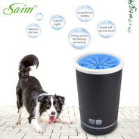Saim Automatic Dog Paw Cleaner Portable Dog Paw Cleaner Pet Cleaning Brush Cup Auto Cat Dog Foot Cleaner With Towel USB Charger