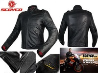 2016 New scoyco motorcycle jacket racing suits jersey drop resistance clothing waterproof motorbike leather jackets Black JK44