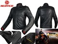 2016 New scoyco motorcycle jacket racing suits jersey drop resistance clothing waterproof motorbike leather jackets Black JK44
