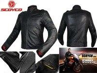 2016 New Scoyco Motorcycle Jacket Racing Suits Jersey Drop Resistance Clothing Waterproof Motorbike Leather Jackets Black