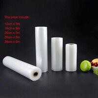 vacuum bags for food Vacuum Sealer Food Fresh Long Keeping 12+15+20+25+28cm*500cm 5 Rolls/Lot bags for vacuum packer