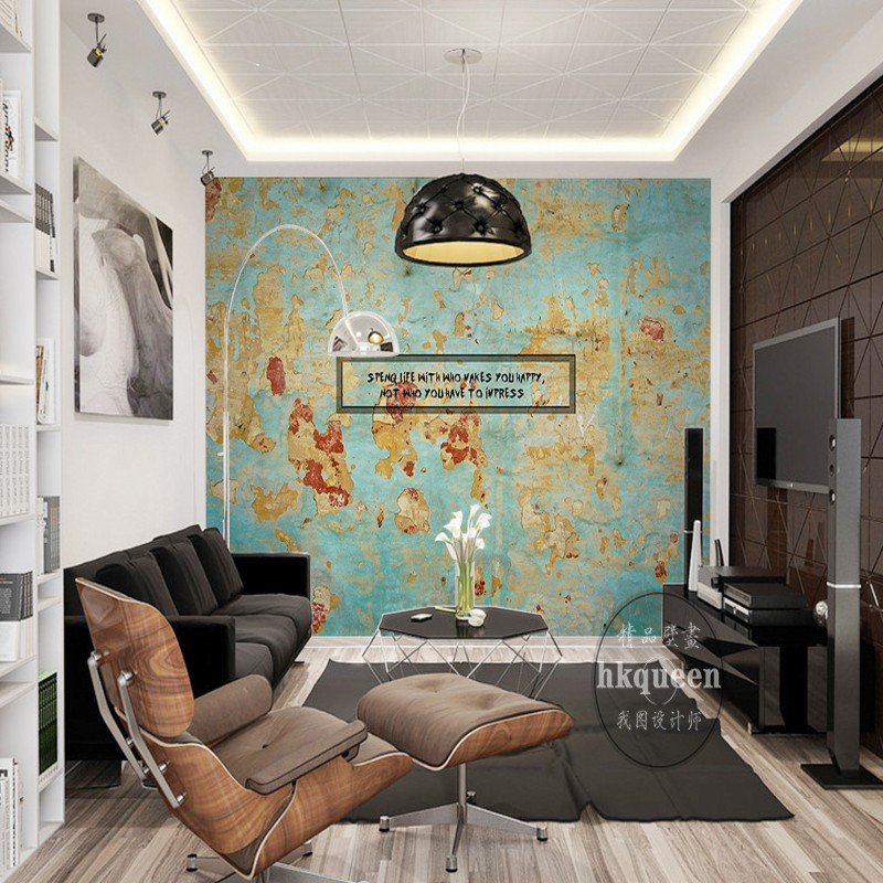 Free Shipping Retro Nostalgia World Map Abstract Hand Painted Backdrop Wallpaper Office Decoration Lobby Bedroom Mural