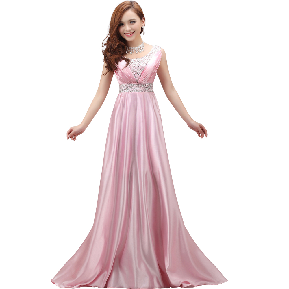 2017 spring bride graduation dress double shoulder long for Plus size dresses weddings and proms