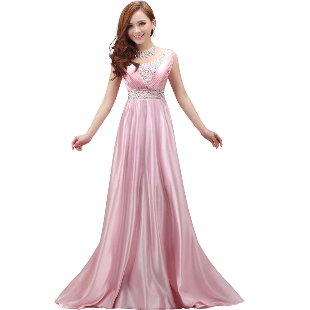 2017 summer Bride graduation dress double shoulder long gold bridal ...