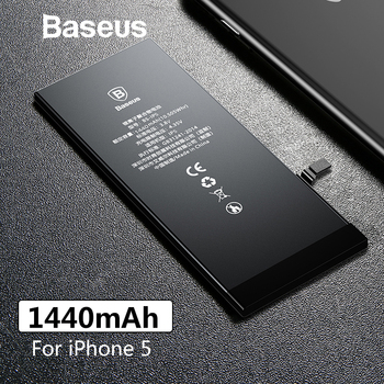 Baseus Original Phone Battery For iPhone 5 5G Replacement Batteries 1440mAh High Capacity with Free Repair Tools Kit Sticker