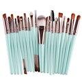 20 unids Pinceles de Maquillaje Pro Powder Foundation Blush Delineador de Cejas Pestañas Labios Contour Corrector cepillos Herramientas de Maquillaje
