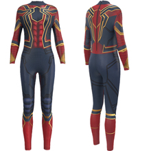 Superhero Movie Spider-Man Iron Spider Jumpsuit Catsuit Sexy Cosplay Costumes Halloween Women Bodysuit Fancy Dress