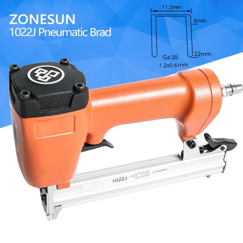 ZONESUN nail gun Pneumatic micro pinner nailer air brad headless pin gun for Furniture Wood Sofa woodworking Air Stapler Ga20