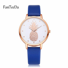 New Fashion Leather Women Watches 2018 Luxury Top Brand Pineapple Pattern Casual Quartz Watch Women Clock Relogio Feminino#3G