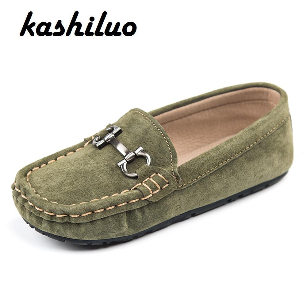 KASHILUO Children Slip on Loafers Kids Fashion Shoe boys ...