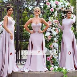 Съемные 2019 дешевые платья подружки невесты до 50 Русалка Милая Длинные свадебные платья для женщин