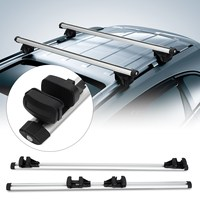 130cm Universal Car Roof Rack Cross Bar with Anti theft Lock Auto Roof Rails Rack Bars Outdoor Rooftop Luggage Carrier Racks