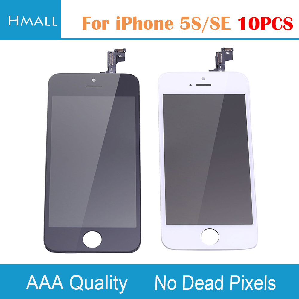 10PCS For iPhone SE  LCD Display with Touch Screen Digitizer Assembly Replacement for iPhoneSE White/Black AAAA+ No Dead Pixel lcd screen assembly for apple iphone 4 4g lcd display touch screen digitizer pantalla with frame bezel replacement black white