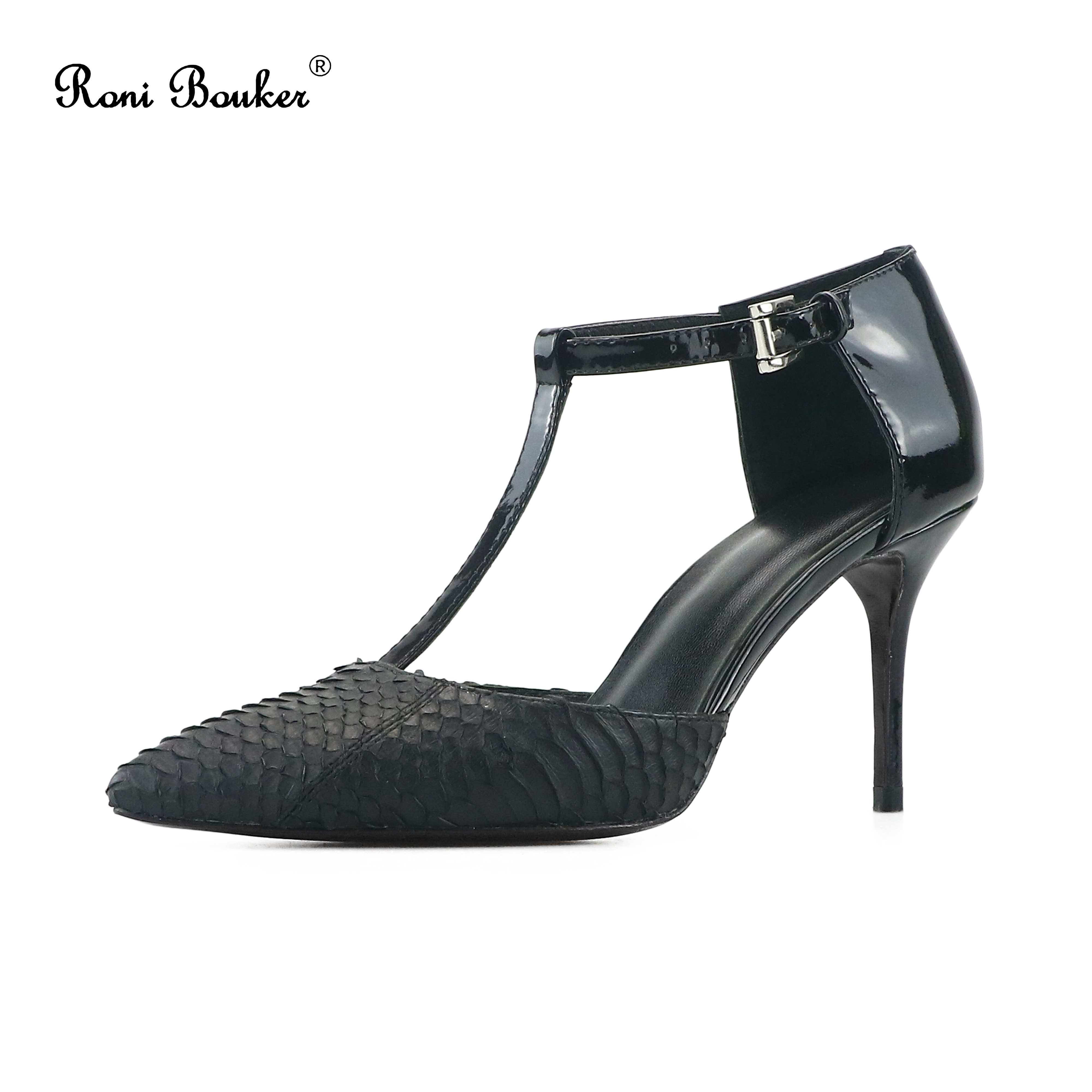 Roni Bouker Fashion Sandals Women Casual Pointed Toes Buckle Strap Stilettos Heel Woman Dress Party High Heels Shoes New BlackRoni Bouker Fashion Sandals Women Casual Pointed Toes Buckle Strap Stilettos Heel Woman Dress Party High Heels Shoes New Black