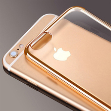 Cell Phone Case for iPhone 6 iPhone 6S iPhone 7 8 Plus iPhone 5S 5 s SE 5SE X 10 XR XS Max Silver Rose gold Silicone Clear Cover чехол lumence clear rose gold для iphone xr