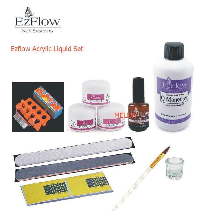 BEMLP Nail Art Acrylic Set A Polymer Powder White/Pink/Clear Q ...