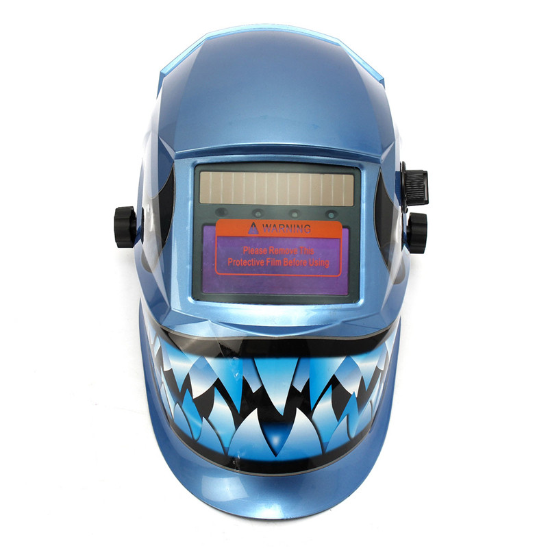 New PP Pro WELDING/Grinding Helmet  Auto Darkening Mig Tig Arc Mask Blue Dink Ultra Light Designing wedling tool football pro solar auto darkening shading tig mig mma arc welding mask helmet welder cap for welding machine